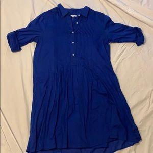Blue button up dress